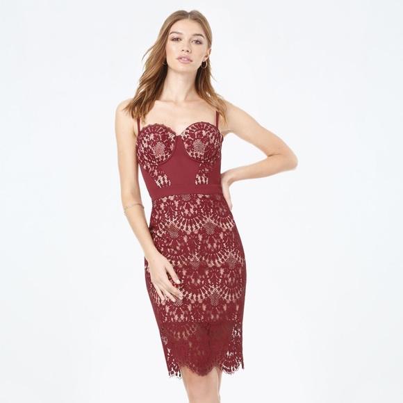 bebe Dresses & Skirts - Clarissa Lace Bustier Dress